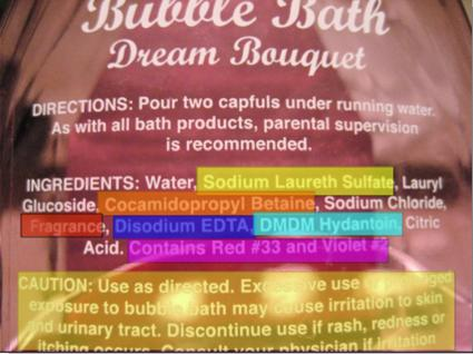 what's in your (kids) bubble bath.