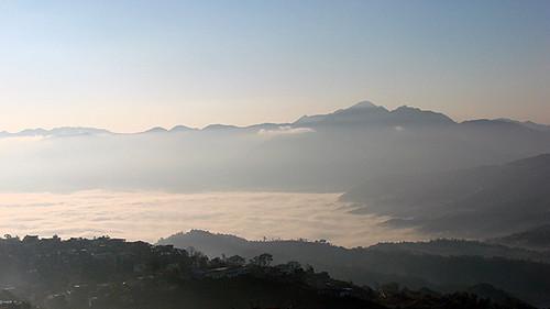 दशैंताका तानसेनबाट देखिने माँडीफाँटको दृश्य