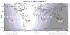 Mapa eclipse lunar