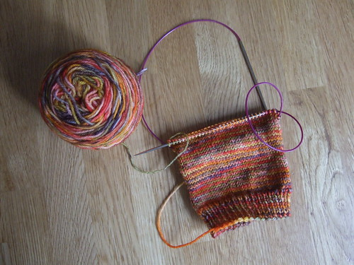 red pesto socks progress