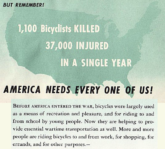 World War 2 bike safety pamphlet - text transcribed below the image.