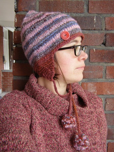raspberry jam hat - full with embellishment