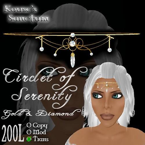 Circlet of Serenity - Gold - Diamond - Ad