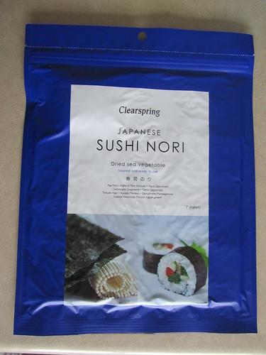 Some nori (seaweed)