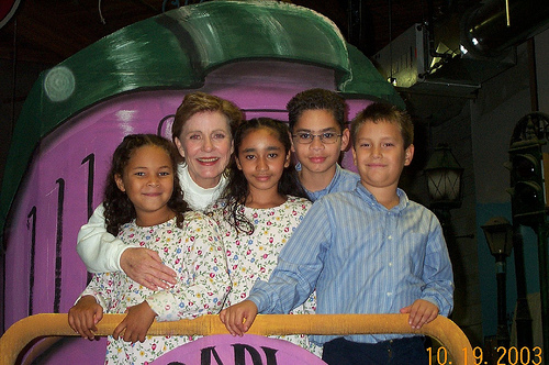 Patty Duke with the kids