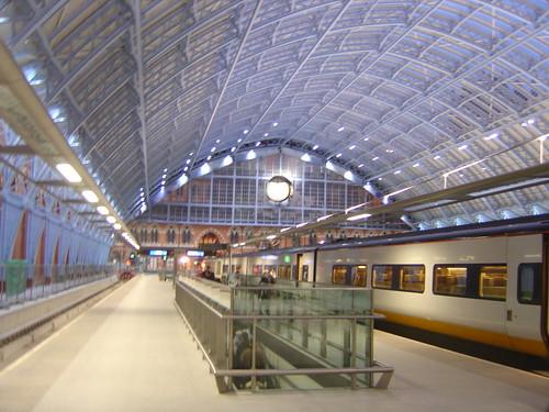 London St Pancras International Station and Eurostar Train