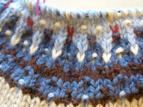 Closeup of Bohus Yoke patterning
