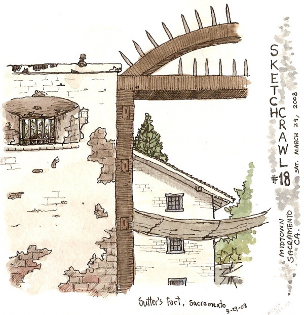 sketchcrawl 18: midtown sacramento