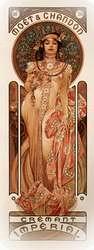 Moetychandon cremant 1899. Alphonse Mucha.