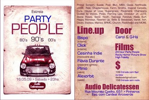 Party People @ Audio Delicatessen, 16/05/09