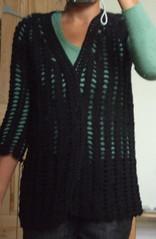 crochet wrap cardigan progress