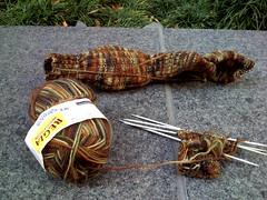 Socks_2008Jan17_BrownCamoWIP