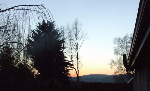 Sunset and a new view of the Clare hills