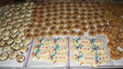 Cookies on a banquet table
