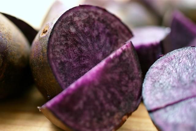 purple potato macro