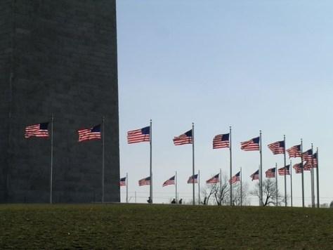 Washington Monumnet flags