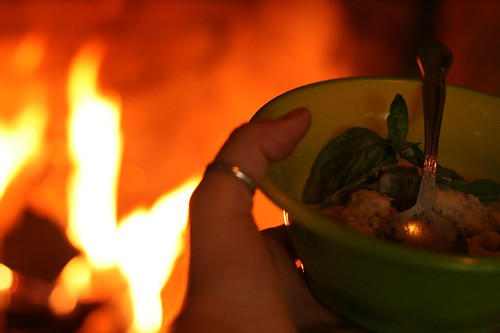 Me and SC Gnocchi by the fireside