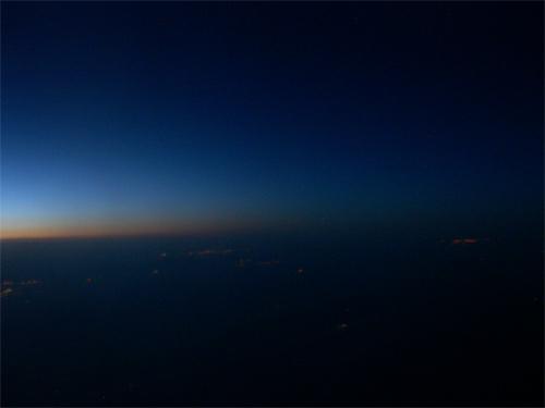 approaching sunrise