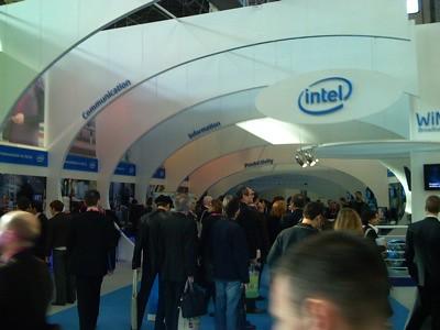 Stand de Intel. Muy comprometidos con la tecnología WiMax