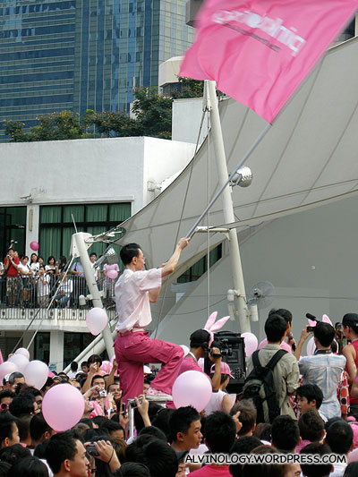 Flying the Pink Dot SG flag high up