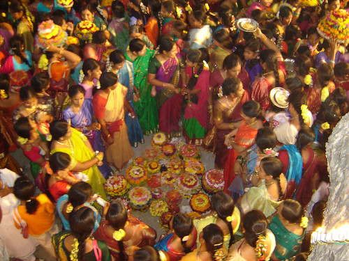 Saddula Bathukamma at Padmakshi Temple 3 - B.Bhaskar Rao (SPACE - Warangal)