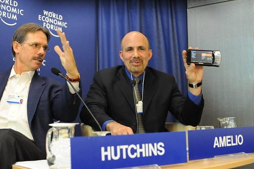 William Amelio, CEO of Lenovo, shows off new MID device