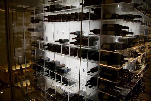 Wine Rack at Aureole