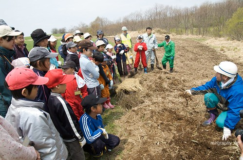 Planting trees with the local children