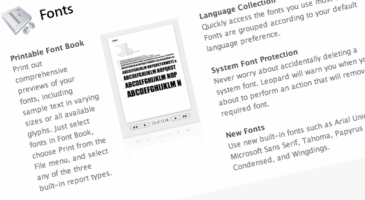 """Grading the New Font """"Features"""" in OS X Leopard"""