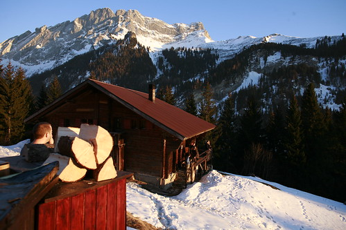Pierre's chalet (view from the hot tub)
