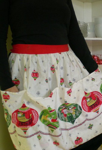 holiday ornament apron