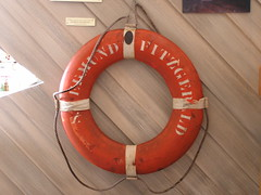 "Life ring from the ""Edmund Fitzgerald"""