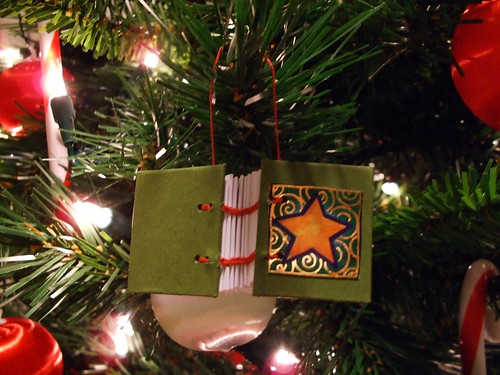 Coptic Star Book Ornament
