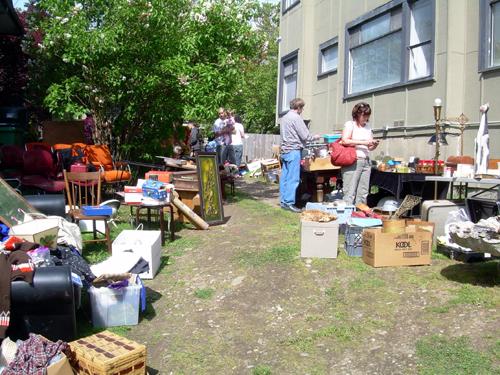 Large sprawling yard sale