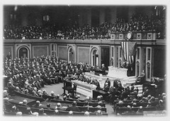 No Known Restrictions: President Woodrow Wilson Addresses Congress, 1917 (LOC)