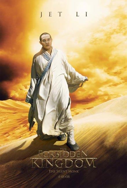 Jet Li as the Silent Monk