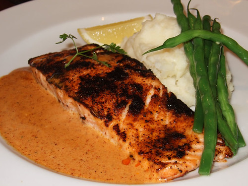 Salmon Steak Mustard Sauce