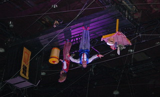 Clowns Upside Down on the Ceiling
