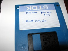 floppy disk from college