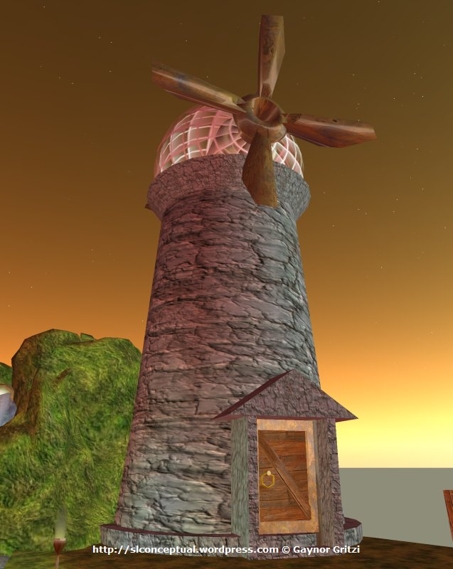 Floating Island with Windmill 08