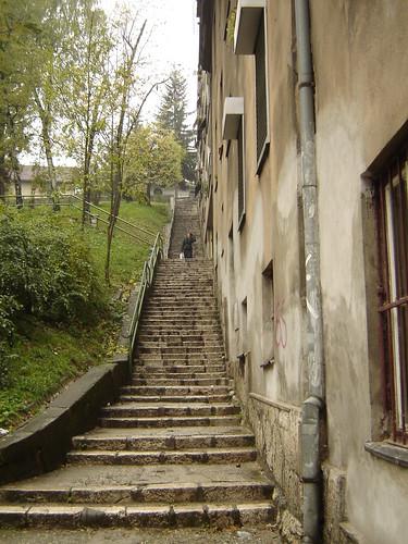 Strada in trepte in Sarajevo