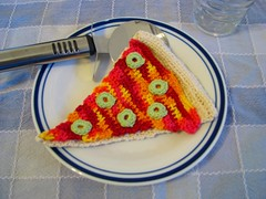 Thing 4. Crocheted pizza slice