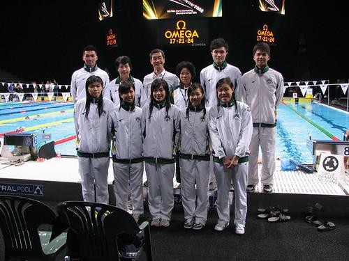 澳門游泳代表隊攝於賽場
