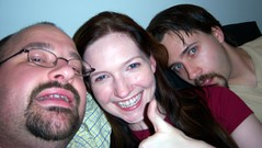 Scott, Linnea and Ryan playing Chu Chu Rocket