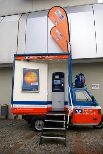 Rollender Geldautomat