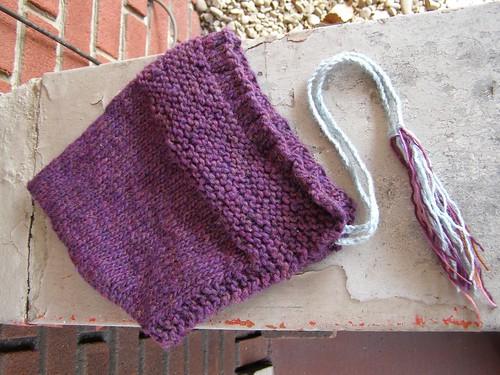 purple pixie hood