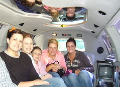Us girlies in the limo