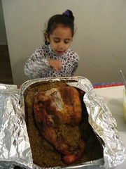 aaliyah with the turkey 11.2007