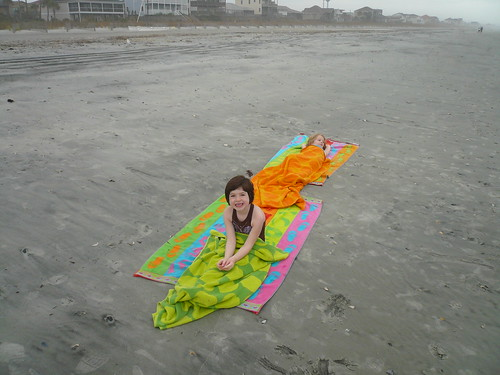mummies on the beach