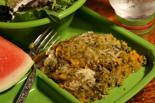 Winter Squash and Pesto Gratin